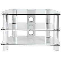 "Buy John Lewis JL600/C10 Television Stand for TVs up to 26"", Clear Glass Online at johnlewis.com"