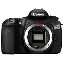 "Buy Canon EOS 60D Digital SLR Camera, HD 1080p, 18MP, 3"" LCD Screen, Body Only Online at johnlewis.com"