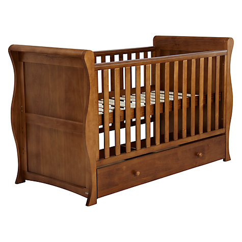 Buy John Lewis Martha Sleigh Cotbed, Antique Online at johnlewis.com