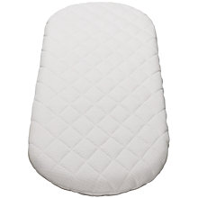Buy John Lewis Baby Moses Basket Mattress, L75 x W28cm Online at johnlewis.com