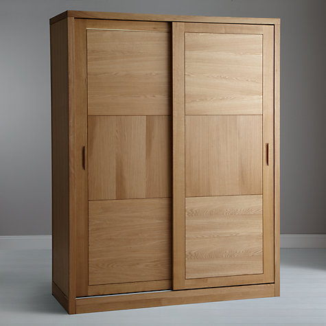 Buy John Lewis Carson 2-door Sliding Wardrobe, Oak Online at johnlewis.com