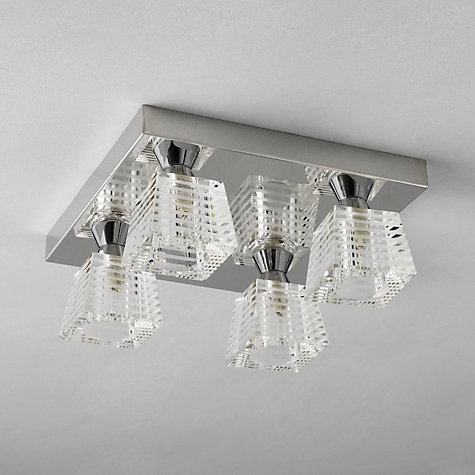 Buy John Lewis Tian 4 Plate Flush Light Online at johnlewis.com