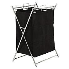 Buy John Lewis The Basics X Frame Laundry Hamper, Chrome/Black Online at johnlewis.com
