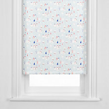 Buy John Lewis Beach Huts Roller Blind, Grey Online at johnlewis.com