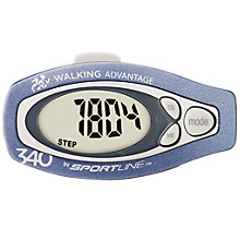 Buy Sportline 340 Step and Distance Pedometer, Blue Online at johnlewis.com