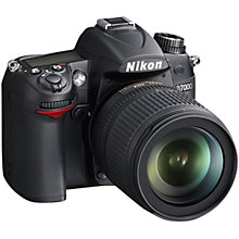 "Buy Nikon D7000 Digital SLR Camera with 18-105mm VR Lens, HD 1080p, 16.2MP, 3x Optical Zoom, 3"" LCD Screen Online at johnlewis.com"