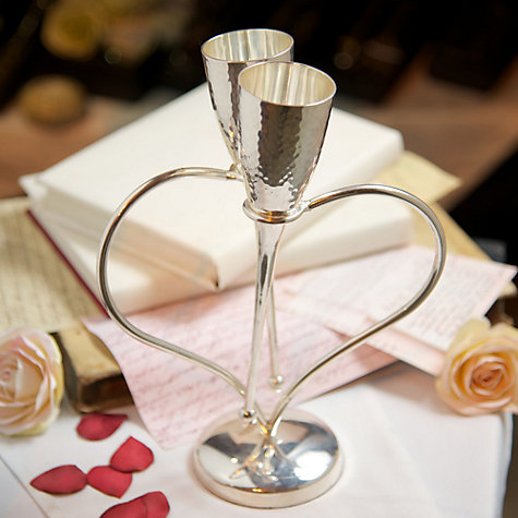 Buy Culinary Concepts Amore Heart Champagne Flutes on a Stand, Set of 2 Online at johnlewis.com