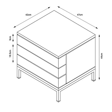 Buy John Lewis Loft 2-drawer Bedside Table Online at johnlewis.com
