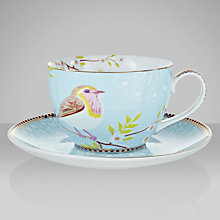 Buy PiP Studio Cappuccino Cup and Saucer, Blue, Set of 4 Online at johnlewis.com