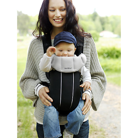 Buy BabyBjörn Baby Carrier Active, Black/Silver Online at johnlewis.com