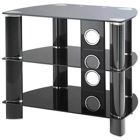 "Buy John Lewis JL600/B10 Television Stand for TVs up to 26"", Black Glass Online at johnlewis.com"
