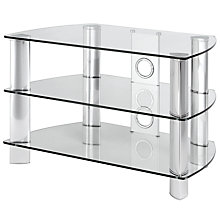 "Buy John Lewis JL800/C10 Television Stand for TVs up to 39"", Clear Glass Online at johnlewis.com"