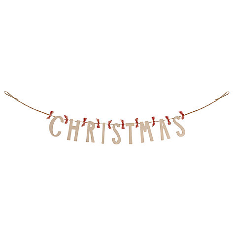 Buy East of India Cream Wood Garland Online at johnlewis.com