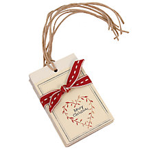 Buy East of India Heart Wreath Gift Tags, Pack of 4 Online at johnlewis.com
