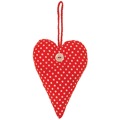 Buy East of India Heart Spot Pin Cushion Online at johnlewis.com