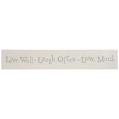 Buy East of India Live Well Sign Online at johnlewis.com