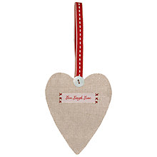 Buy East of India Linen Heart Online at johnlewis.com