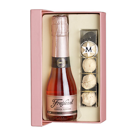 Buy Cava and Chocolate Truffles Valentine's Gift Set, 60g Online at johnlewis.com