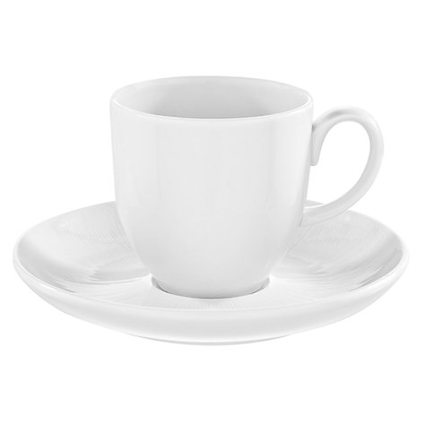 Buy Raymond Blanc for John Lewis Chanterelle, Coffee Cup & Saucer, 0.2L, White Online at johnlewis.com