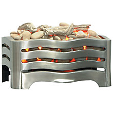 Buy Burley Fuel-Effect Electric Fire, Waverley 228, Brushed Steel Online at johnlewis.com