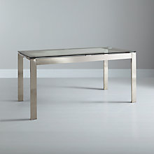 Buy John Lewis Frost 6 Seater Dining Table, Glass Online at johnlewis.com
