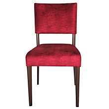Buy John Lewis Tania Dining Chair, Harlequin Arkona Velvet, Red / Dark Oak Online at johnlewis.com