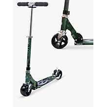 Buy Micro Rocket Aluminium Scooter, Green Online at johnlewis.com
