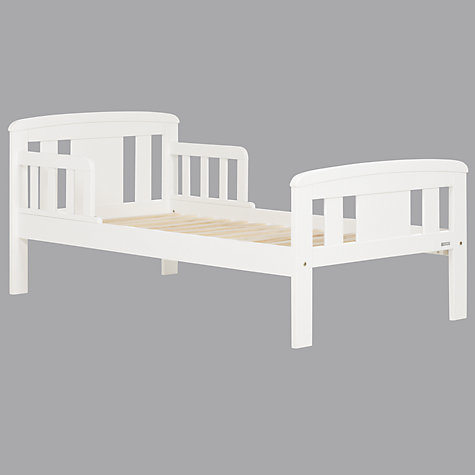 Buy John Lewis Boris Toddler Bed, White Online at johnlewis.com