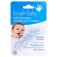 Buy Brush Baby Teether Toothbrush, Blue Online at johnlewis.com