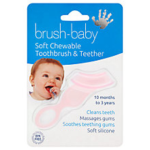 Buy Brush Baby Teether Toothbrush, Pink Online at johnlewis.com