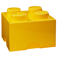 Buy LEGO 4 Stud Storage Brick Plastic Box Online at johnlewis.com