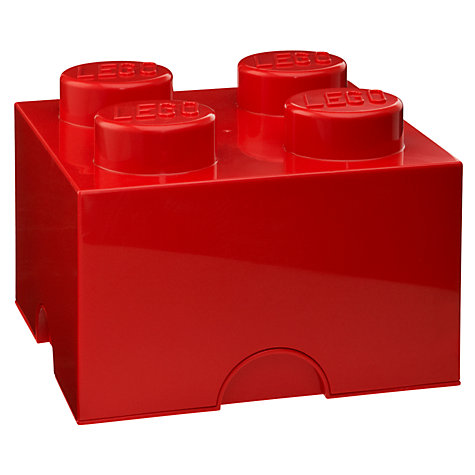 Buy LEGO 4 Stud Storage Brick Online at johnlewis.com