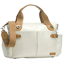 Buy Storksak Kate Patent Changing Bag, Chalk Online at johnlewis.com
