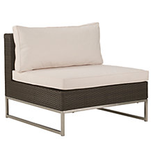 Buy John Lewis Milan Outdoor Sofa Middle Unit Online at johnlewis.com