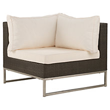 Buy John Lewis Milan Outdoor Sofa Corner Unit Online at johnlewis.com