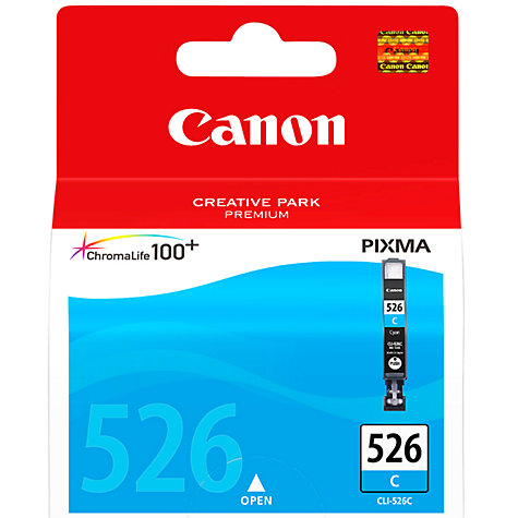 Buy Canon Pixma Inkjet Cartridge, Cyan, CLI-526 Online at johnlewis.com