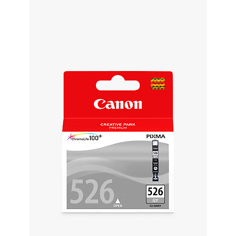 Buy Canon Pixma Inkjet Cartridge, Grey, CLI-526 Online at johnlewis.com