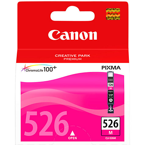 Buy Canon Pixma Inkjet Cartridge, Magenta, CLI-526 Online at johnlewis.com