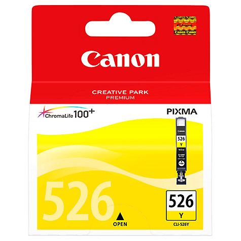 Buy Canon Pixma Inkjet Cartridge, Yellow, CLI-526 Online at johnlewis.com