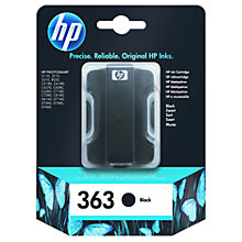 Buy HP 363 Inkjet Cartridge, Black, C8721EE Online at johnlewis.com