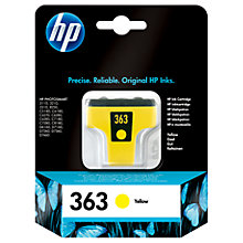 Buy HP 363 Inkjet Cartridge, Yellow, C8773EE Online at johnlewis.com