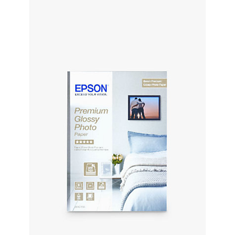 Buy Epson Premium Glossy Photo Paper, A4, 15 Sheets Online at johnlewis.com