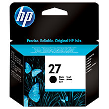 Buy HP 27 Inkjet Cartridge, Black, C8727AE Online at johnlewis.com