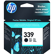 Buy HP 339 Inkjet Cartridge, Black, C8721EE Online at johnlewis.com