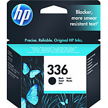 Buy HP 336 Inkjet Cartridge, Black, C8721EE Online at johnlewis.com