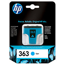 Buy HP 363 Inkjet Cartridge, Cyan, C8771EE Online at johnlewis.com