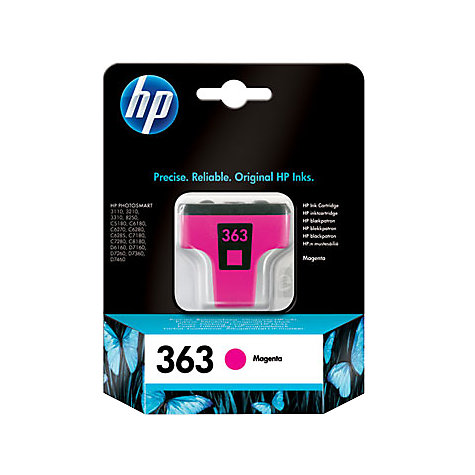 Buy HP 363 Inkjet Cartridges, Magenta, C8772EE Online at johnlewis.com