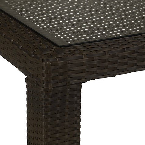 Buy John Lewis Milan Rectangular 6 Seater Outdoor Dining Table, Synthetic Wicker Online at johnlewis.com