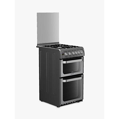 buy hotpoint ultima hug52g gas cooker graphite john lewis. Black Bedroom Furniture Sets. Home Design Ideas