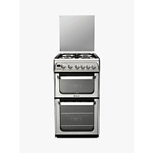 Buy Hotpoint Ultima HUG52X Gas Cooker, Stainless Steel Online at johnlewis.com
